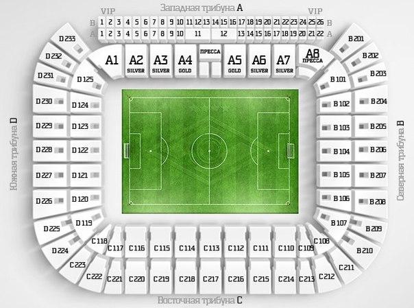 Схема стадиона Спартак