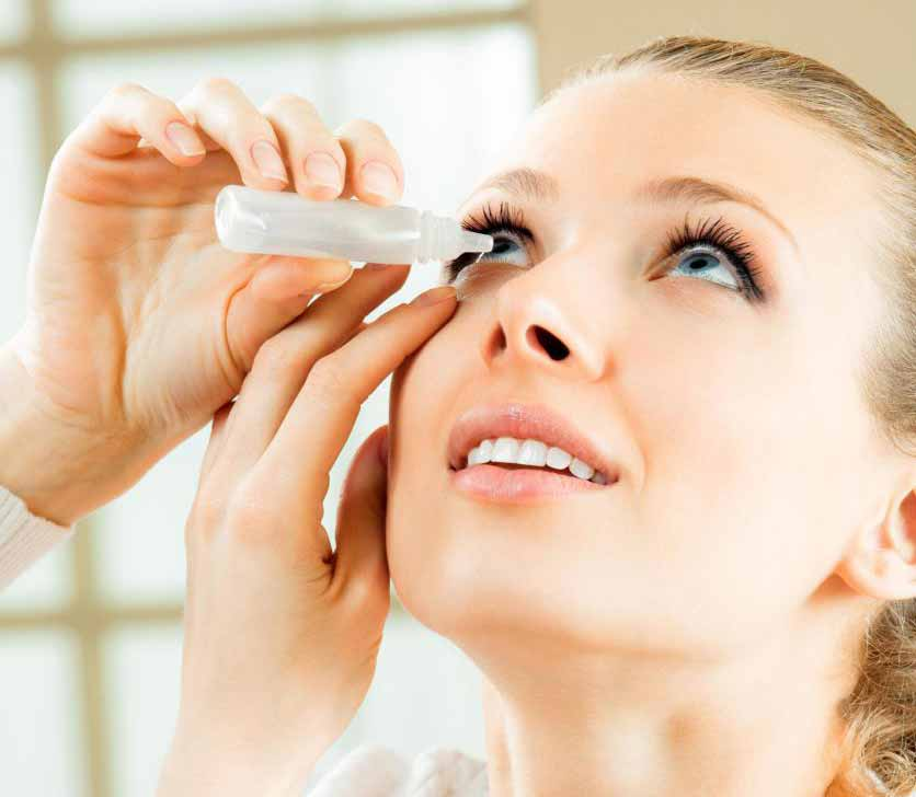Специальные глазные капли обычно используются для лечения глаукомы.