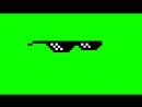 Пиксельные крутые очки - Футаж ! Хромакей на зеленом фоне !.mp4