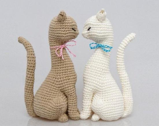 котики-миляги крючком