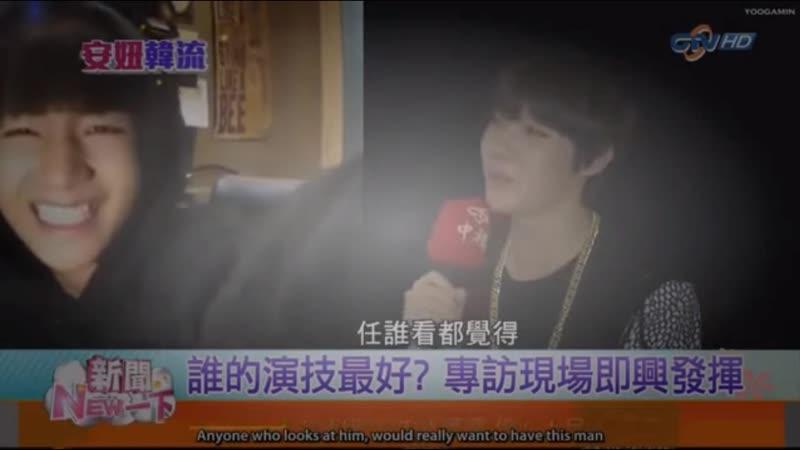 Hoseok says taehyung is the perfect man (150330 CTV News An Niu Han Liu)