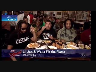 Lil Jon и Waka Flocka Flame за обедом на Jimmy Kimmel Live