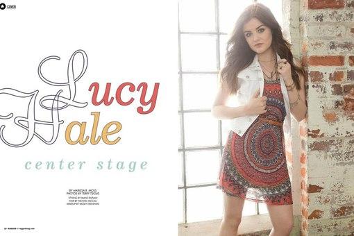 Люси хейл для журнала ragged
