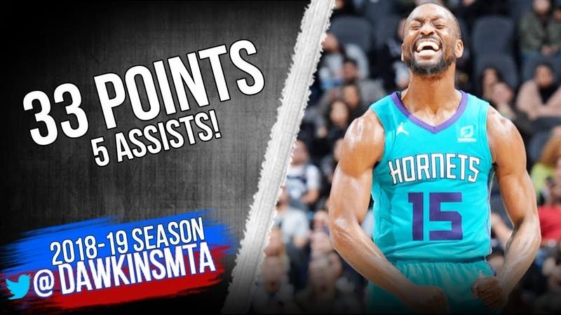 Kemba Walker Full Highlights 2019.01.14 Hornets vs Spurs - 33 Pts, 5 Ats, 7 Threes! | FreeDawkins