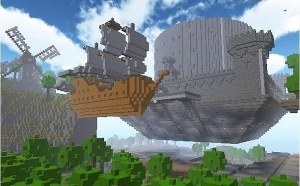 небесный замок и корабль