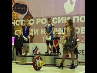 [OssVes] Мария Гасиева выиграла первенство России по тяжелой атлетике