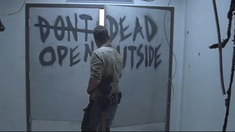 Рик Граймс на поле мертвецов
