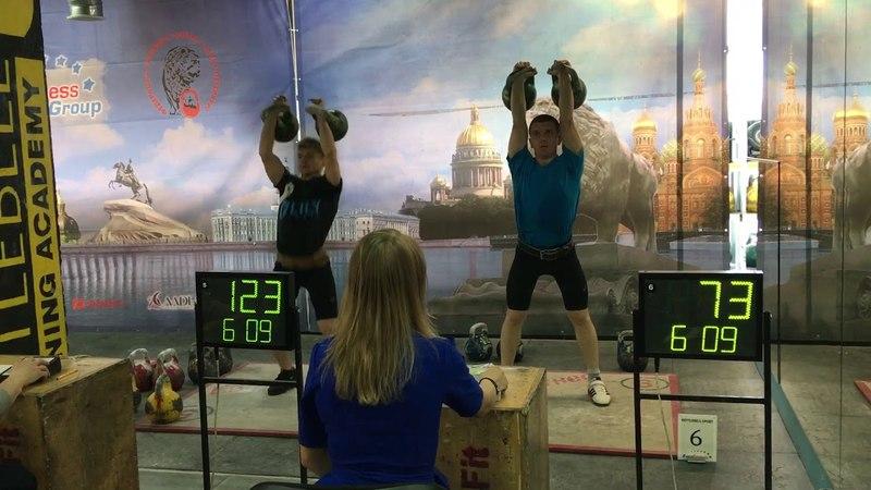 Grand Prix «Белые ночи», Давыдик Дмитрий,толчок 24 кг 191 подъем