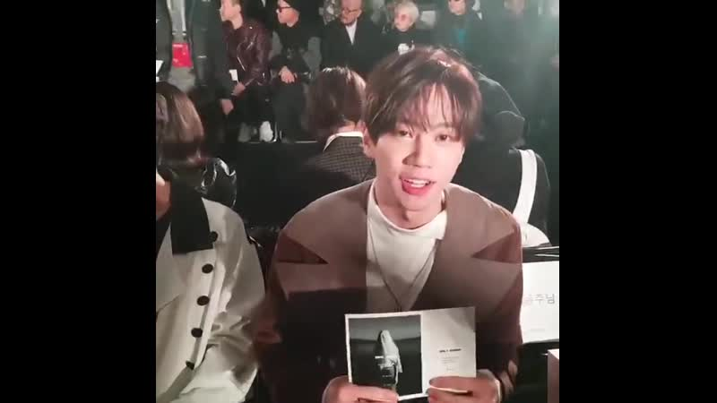 Jun fancam @ 2019 F/W Seoul Fashion Week DAILY MIRROR (23.03.19)