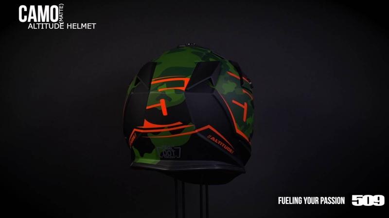 509 Altitude Snow Helmet - Orange Camo