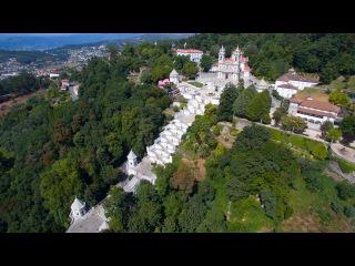 Santuário do Bom Jesus do Monte vista aérea - Bom Jesus do Monte Sanctuary aerial view - 4K Ultra HD Portugal