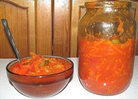 Салат заготовки на зиму с фото