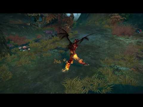Демонические крылья с эффектами в игре