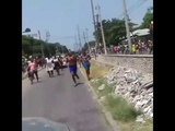 Brazil fans in jamaica after Mexico win