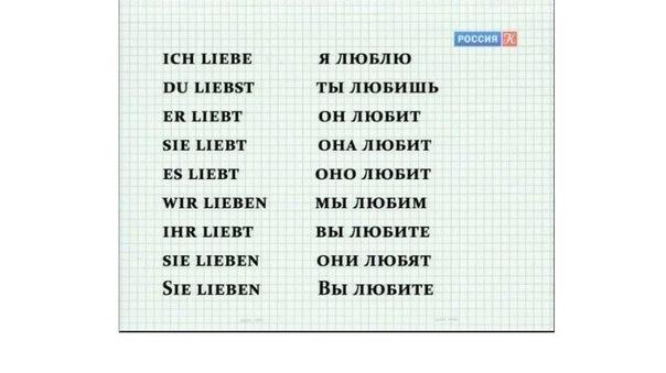 спряжение глагола немецкий