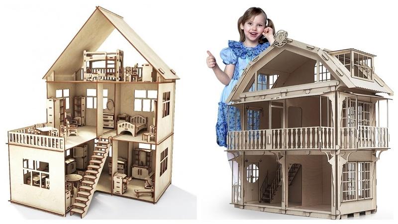 Деревянный кукольный домик недорого