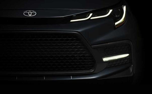 Новый седан Toyota Corolla: первое фото и дата премьеры.