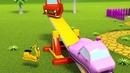 Весёлые качели летающих машинок Город Летающих Машинок Детские мультики