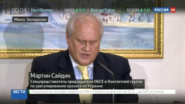 Новости на Россия 24 • ОБСЕ дало срок противникам в Донбассе отвести запрещенное оружие до 20 февраля