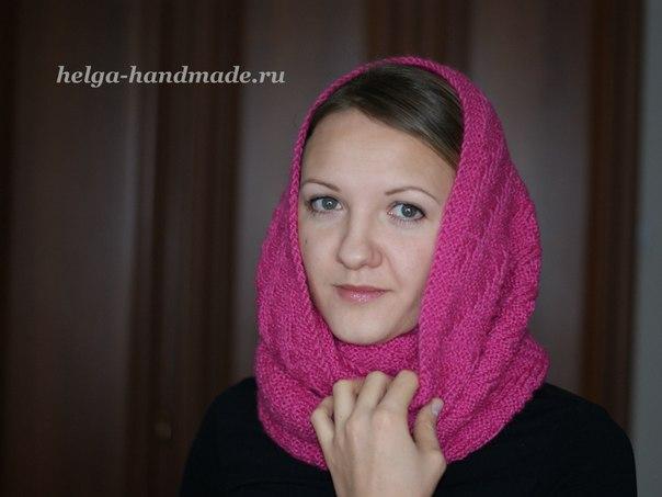 Вяжем шарф-снуд своими руками