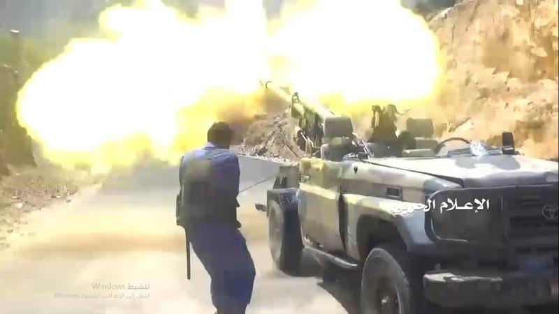لحج - شاهد كسر زحف لمنافقي العدوان في منطقة م