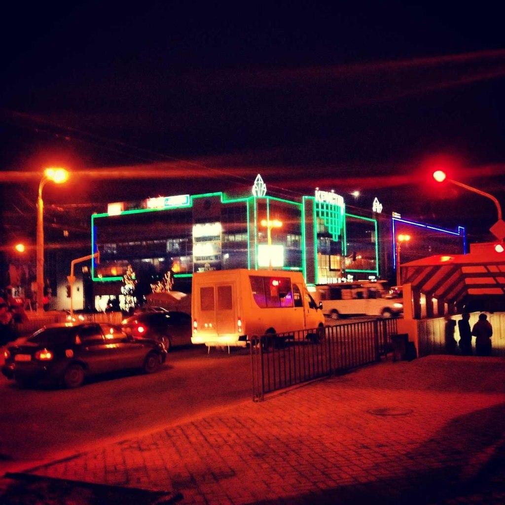 фото ночной луганск