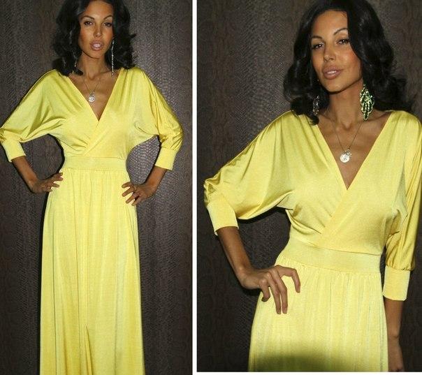 фото сукні батерфляй - жовтий варіант
