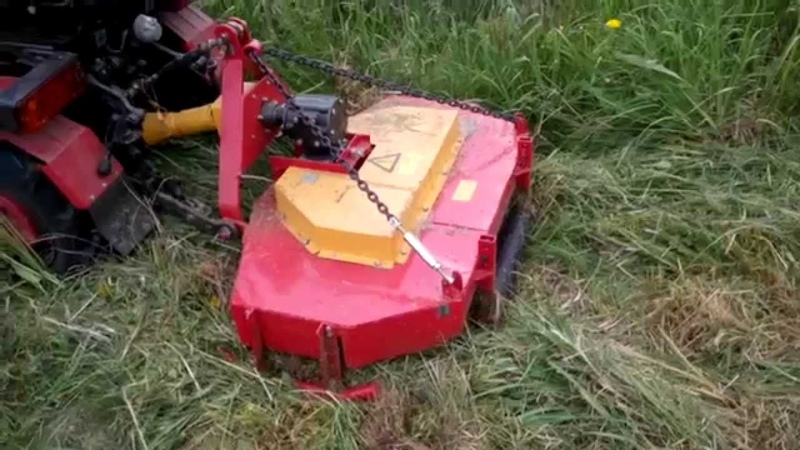 Тест роторной косилки КТМ-2 к минитрактору МТЗ-132н