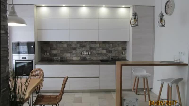 Дизайн кухни с барной стойкой в скандинавском стиле Евроремонт