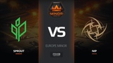 Sprout vs NiP, map 2 mirage, Europe Minor FACEIT Major 2018