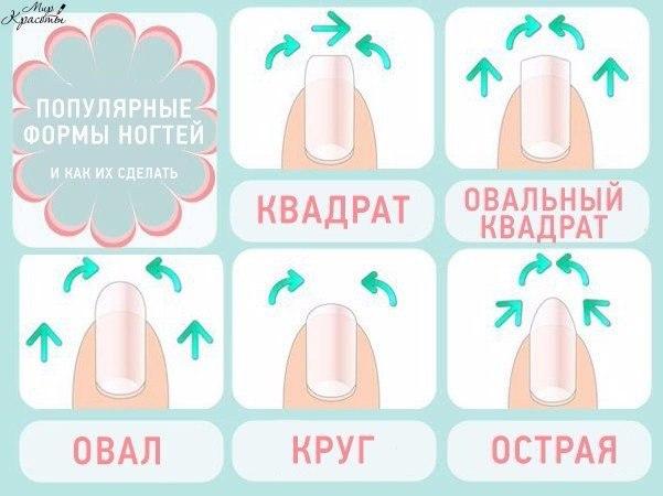 Как овальные ногти сделать квадратными