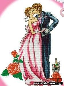 Свадебная метрика, ручная работа, вышивка крестиком.  Прекрасный подарок на годовщину свадьбы, на день свадьбы...