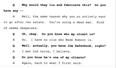Показания Йоши Уейли, сына Джоли Левин (секретарь MJ)., изображение №35