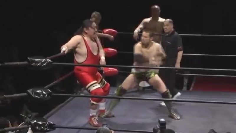 Go Shiozaki, Kaito Kiyomiya, Kazusada Higuchi vs. Shiro Koshinaka, Tamon Honda, Yoshiaki Fujiwara (Toshiaki Kawada Produce - Hol