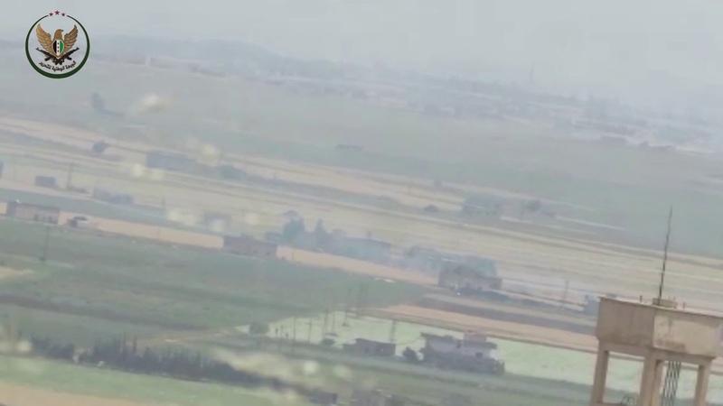 Фронт национального освобождения FNL Уничтожение второго танка бригад Асада с помощью противотанковой ракеты на фронте Тель Хваш