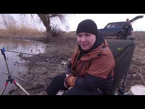 Рыбалка в канале под Новочеркасском.фидер ранней весной