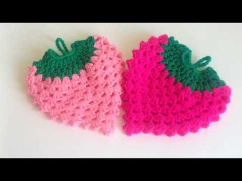 Прихватка Клубничка крючкомHook the strawberry crochet