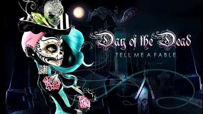 Doll Figurine DAY OF THE DEAD Sugar Skull Halloween Monster High Repaint Ooak