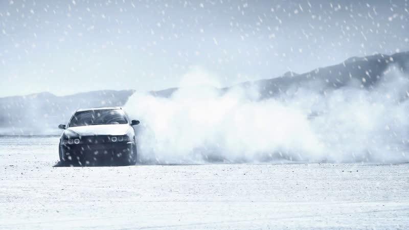 Зимний дрифт на BMW Е34