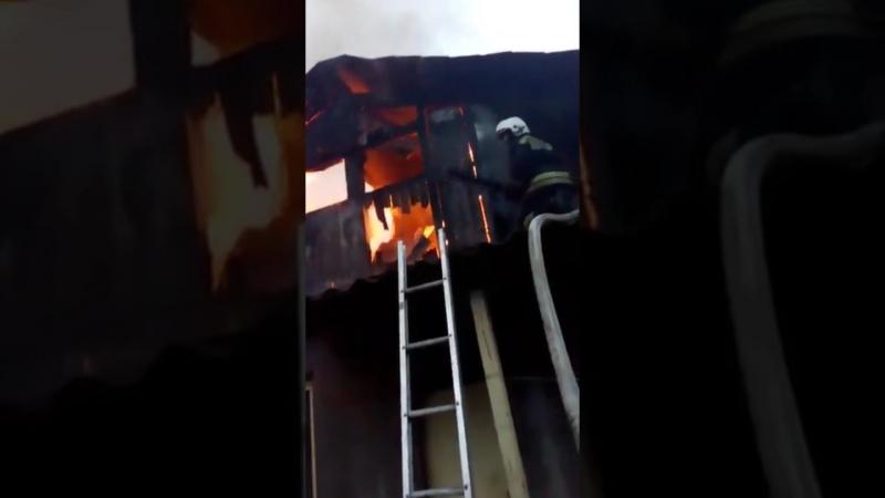 В Соколовке ГО Верхняя Пышма полностью выгорело здание детского сада
