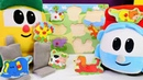 Leo der Lastwagen und Lifty helfen den Tieren Spielzeugvideo auf Deutsch