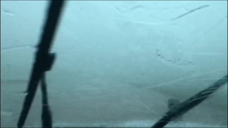 INCREDIBLE hail core pummels Nissan Sentra, blowing out back window