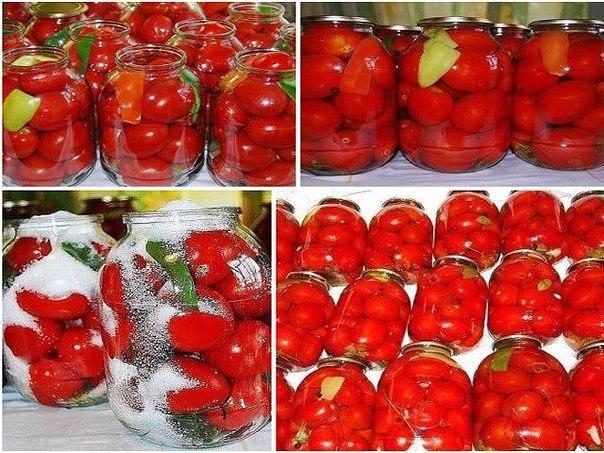 «царские» помидоры для цариц:) вкусные, сладкие помидорки мой любимый рецепт, придумала сама,изменяла его из года в год.
