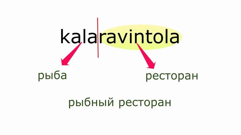 Финский с нуля составные слова