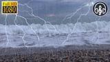 Шум моря с дождем и раскатами грома 8 часов для релакса и сна