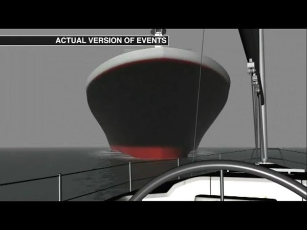 Collision Between Sailing Yacht and Container Vessel