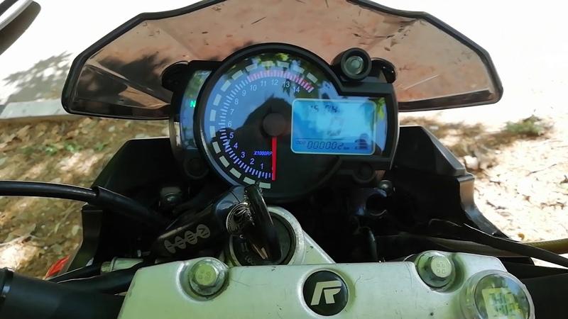Приборка Koso RX2N реплика на Racer Nitro 250
