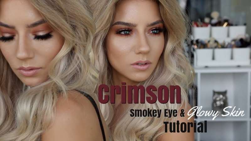 Crimson Smokey Eye Glowy Skin Quickie Tutorial