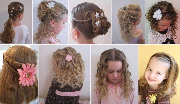 Красивые причёски на средние волосы фото своими руками для детей