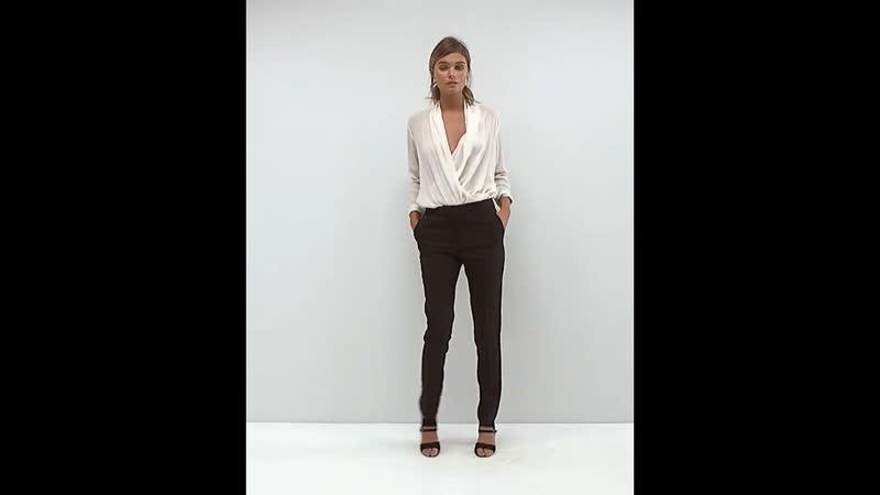 Узкие черные брюки стретч ASOS New Look